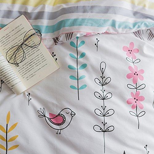 HIGHBUY Floral Printed Pattern Duvet Cover Sets