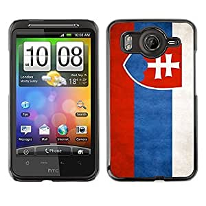 Shell-Star ( National Flag Series-Slovakia ) Snap On Hard Protective Case For HTC Desire HD / Inspire 4G