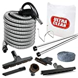 Plastiflex Deluxe, Bare Floor and Carpet 35ft Hose and Accessories Central Vacuum Hardwood and Rug Kit