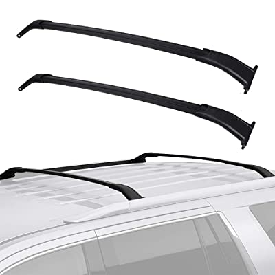 LEDKINGDOMUS Cross Bars Roof Racks Compatible for 2015-2020 GMC Yukon/Chevrolet Tahoe/Chevy Suburban/Cadillac Escalade, Aluminum Rooftop Cargo Bag Carrier Luggage Crossbars Carrying Canoe Kayak Bike: Automotive