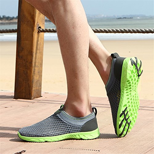 Water Slip Mesh Wading Water Size HUAN E Beach Shoes Mesh Color On On Men's Shoes Mens Shoes Trainers Quick Shoes 35 Shoes Unisex Drying Slip Breathable xxRwOa6q