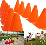 Dazzling Toys Pack of 6 7 Inch Orange Plastic Traffic Cones