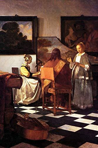 ArtParisienne The Concert Johannes Vermeer 32x48-inch Wall Decal