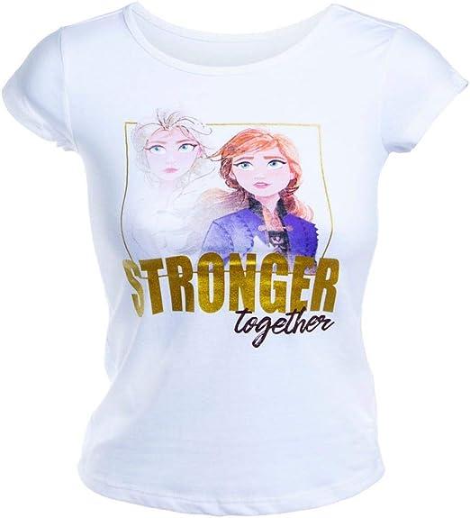 T-Shirt for Girls ELSA Frozen Disney White Top