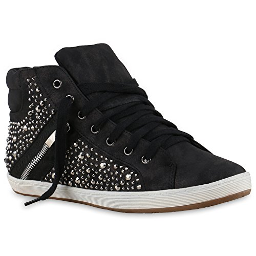 Zapatillas Stiefelparadies Negro Mujer Zapatillas Stiefelparadies Zapatillas Stiefelparadies Mujer Negro ZET7gx