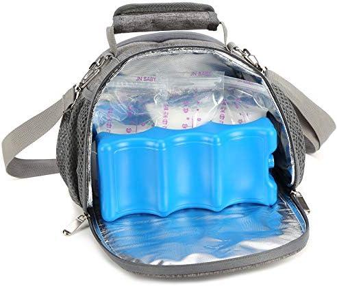 Yvonnelee 3L alimento leggero Baby isolante termica Borsa a tracolla borsa frigo Borsa Borsa Termica Isolata per Cura unterwegs Baby Baby bambini cibo accessori Nylon Piccola Rosa