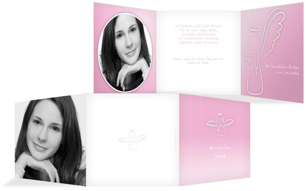 Weitere Anlässe   Dankeskarte Konfirmation_Angel   30 Karten (format  145.00x145.00mm) Farbe  Rosa B075CQZK9Y | Ermäßigung  | Hohe Qualität Und Geringen Overhead  | Sonderkauf