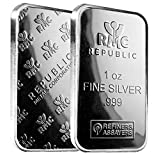 1 oz.999 Silver Bar from Republic Metals Corporation