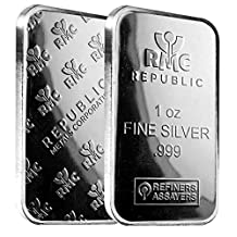 1 oz.999 Silver Bar from Republic Metals Corporation