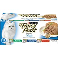 Purina Fancy Feast Pate Seafood Supper Wet Cat Food Variety Pack- 85 g (12 Pack)