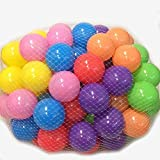 PAPAIT Pack of 200 Phthalate Free BPA Free Crush Proof PE Ball, Pit Balls - 6 Bright Colors in Reusable and Durable Storage Mesh Bag with Zipper