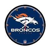 Denver Broncos Round Clock