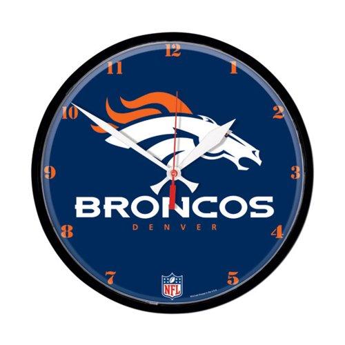 Denver Broncos Round Clock (Clock Nfl Round Wincraft)