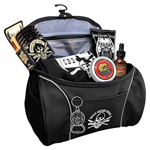 Grave Before Shave Travel Beard Pack (Cigar Blend (Vanilla/Tobacco Scent)