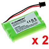 Floureon 900mAh Cordless Phone Battery for Uniden BT-446, BP-446, BT-1005, BT1005, DCT646, DCT646-2, DCT6462, DCT648-2, DCT6482, DCT746M, DCT746, DCT746-2, DCT7462, DCT748, DCT748-2, DCT7482, DCT6465, DCT6465-2, DCT64652, DCT6485, DCT7488, DCT7488-2, DCT74882, DCX700, DCX650, DCX770, DXC700, ELT560 Base, ELBT585 Base, ELBT595 Base, EXT1460, EXT1465, NCP1154, 2 PACK, Office Central
