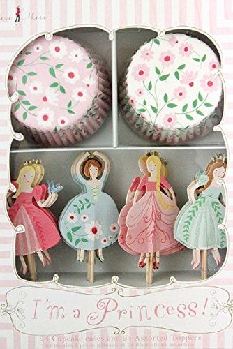 I'm a Princess Cupcake Wrappers Picks Kit 24 Toppers Meri Meri Tangled Braid