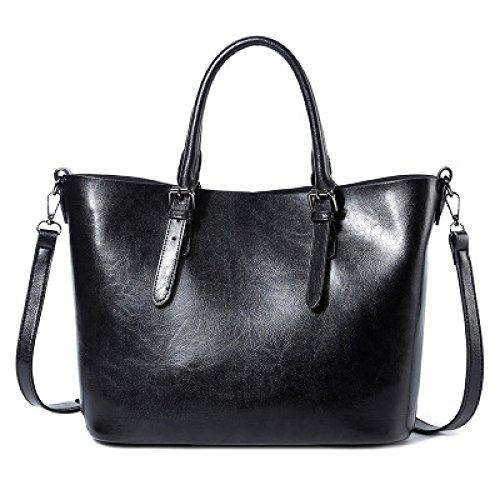 Ladies Pu Waterproof Bag Large Capacity Casual Shoulder Bag Fashion Bag Crossed For The Black Body