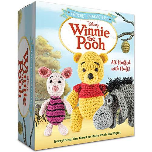 Tapestry Crochet Hook - Winnie The Pooh Crochet Kit Hook, Tapestry Needle, Stuffing & 6 Yarn Colors