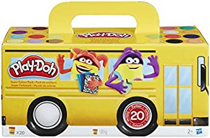 Play-Doh - Pack super color, 20 botes (Hasbro A7924EU6)