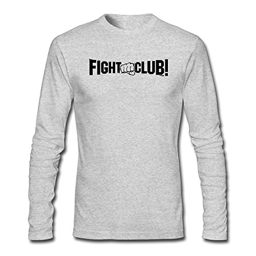 - NewLuyang1 Men's Fight Club Long Sleeve T-Shirt S HeatherGray