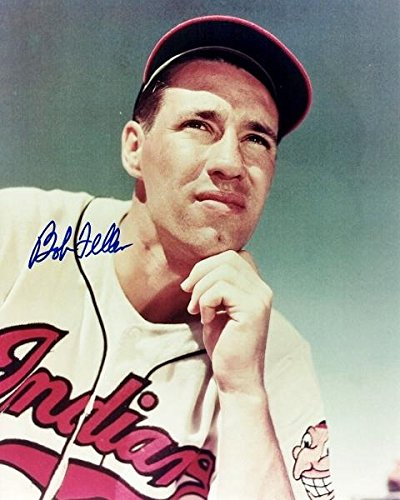 Autographed Feller Picture - 8x10 Deceased 2010 - Beckett Authentication - Autographed MLB Photos