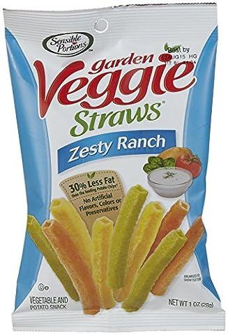 Sensible Portions Garden Veggie Straws, Zesty Ranch, 1 oz, 24 pk
