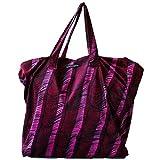 Laura Urbinati Womens Onde Velvet Bag Ruby and Fuchsia OS