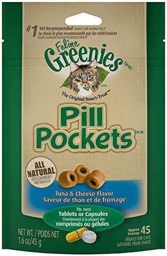 Greenies Feline Pockets Cheese Flavor