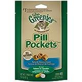 Greenies Feline Pill Pockets Natural Cat Treats Tuna & Cheese Flavor - 1.6 oz. Pouch (45 Treats)