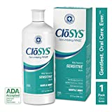 CloSYS Sensitive Mouthwash, Gentle Mint, 32 Ounce, Alcohol Free, pH Balanced, Helps Soothe Mouth Sensitivity, Kills Germs that Cause Bad Breath