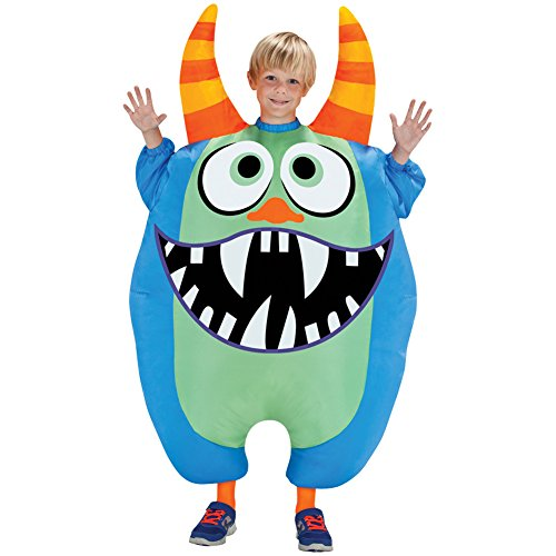 Morris Costumes Hours Of Operation (Scareblown (Blue) Inflatable Child Costume Size Standard)