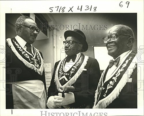 Vintage Photos Historic Images 1978 Press Photo Oliver P. Aaron, Arnold Simmons & Earl Landry Berry Lodge - 8 x 10 in