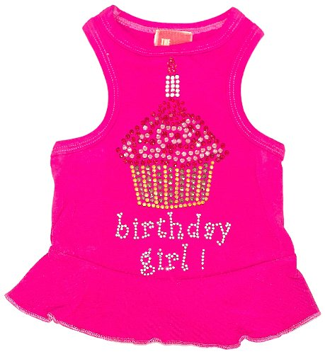 The Dog Squad Birthday Cupcake Pet Dress, Small, Bubblegum
