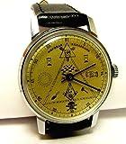 "HAND WATCH POBEDA ""MASONIC"" VERY RARE Mechanical Men's Wristwatch Made in USSR"