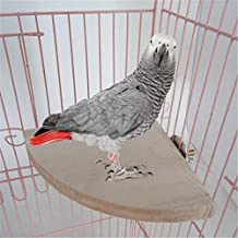 Yosoo 17cm*17cm Wooden Parrot Bird Cage Perches Round Coin Stand Platform Budgie Toys Bird Stand for Parakeets