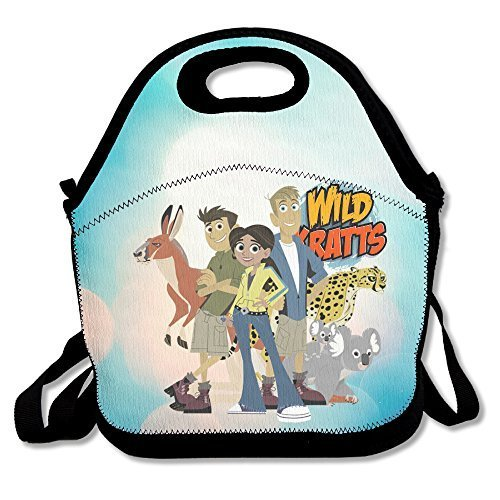 Bakeiy Wild Kratts Lunch Tote Bag Lunch Box Neoprene Tote For Kids And Adults For Travel And Picnic School