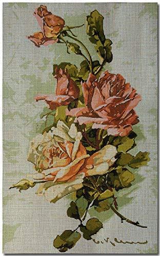 (Hudemas Needlepoint Kit Roses 9.8