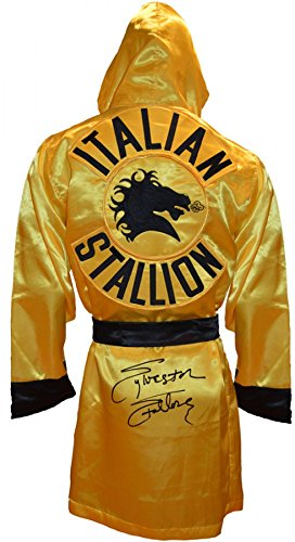 (Sylvester Stallone Signed ROCKY III Italian Stallion Boxing Robe)
