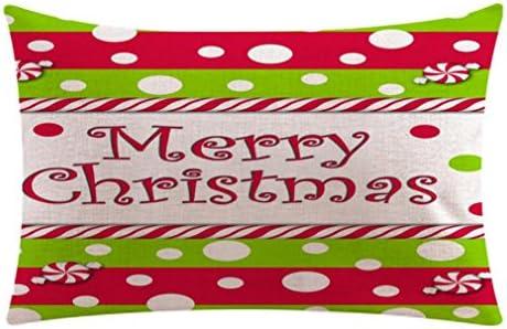Fundas Almohadas, cojín de Navidad en algodón Rectángulo almohada ...