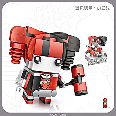 LOZ DC Series The Joker Girl Harley Quinn NO.1426 Mini Construction Building Micro Blocks Compatible Nano Chistmas Bithday Gifts for Kids DIY Figures Assemble Educational Toys Model Kits: Toys & Games