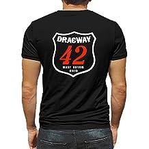 Dragway 42 West Salem Ohio Hot Rod Rat Nostalgia Drag Race Racing NHRA Black Short Sleeve Shirt