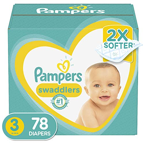 Diapers Size 3, 78 Count – Pampers Swaddlers Disposable Baby Diapers, Super Pack (Packaging May Vary)