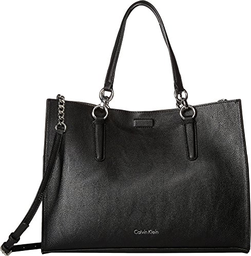 Calvin Klein Women's Reversible East/West Novelty Box Tote Black/Grey One Size