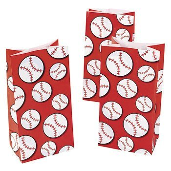 Baseball Treat Bags (24 Bags) by Fun Express