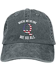 FLYOLCANO Q Anon Where We Go One We Go All Vintage Washed Dyed Dad Hat Adjustable Baseball Hat