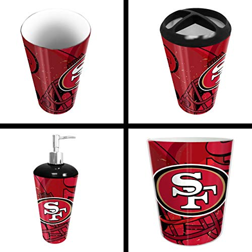 The Northwest Company San Francisco 49ers NFL 4 Piece Bathroom Decorative Set (Scatter Series)