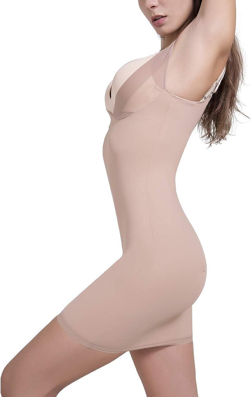 SLIMBELLE Figurformendes Miederkleid Damen Bauchweg Unterkleid Unterw/äsche Nahtlose Stark Formende Shapewear Shaping Kleid Bodystark Formw/äsche Full Shape Unterrock