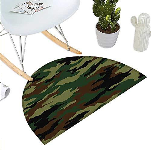 Anniutwo Camo Half Round Door mat Outdoor Fashionable