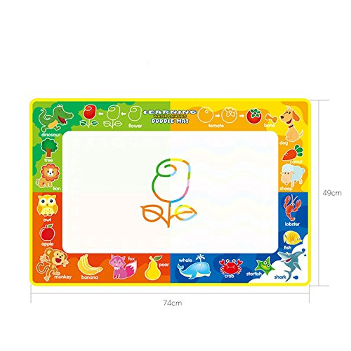 7449cm magical water canvas written blankets graffiti blanket writing blankets children early childhood water canvas