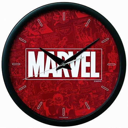 세이코 clock 벽시계 아날로그 MARVEL 로고 본체 사이즈:직경31.1×3.9cm 마블 코스믹스 FW581K SEIKO